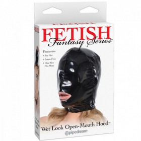 FETISH FANTASY MASCARA LEATHER CON ABERTURA BOCA PARA ELLA